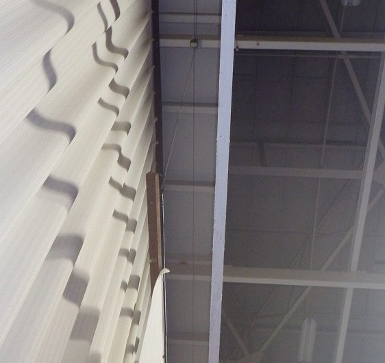 小山市立小山城南小学校体育館ステージ看板改修工事